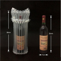 44.8x23.6cm 30pcs Standing air seal plastic packaging bags  Quake-proof packaging red wines etc glass fragile pouchs