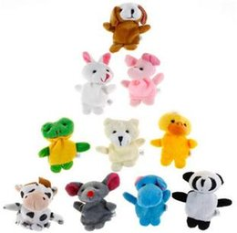 Wholesale Best selling Baby Plush Toy Finger Puppets Talking Props animal group baby staffed velvet fabric hand toy