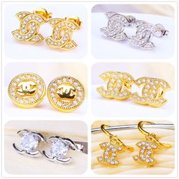 Wholesale 2016 Oscar Oorbellen Limited Gold Silver Earrings Tanzanite White Split Evening Dresses Accessories Crystal In Europe And America Hot Sale
