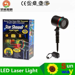 Wholesale Outdoor Star shower LED laser light project christmas lights red green thousands laser lights AC110 V for garden Christmas tree decor