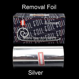 Wholesale 1 Roll m cm Nail Polish UV Gel Silver Thick Remover Foil Nail Wraps Aluminum Foil Paper Manicure Tools Accessories