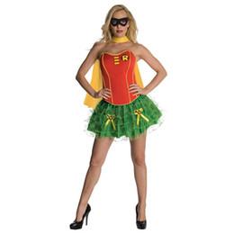 Wholesale Amazing New Sexy Women Superwomen Cosplay Costume Adult Strapless Mini Dress Wonder Woman Superhero Halloween with Cloak W2084314