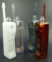 2017 tubes narguilé Nouveau téléphone verre Poignée Long Tube Oil Burner verre Hookah diverses couleurs Pipe en verre Eau Grande vapeur fumée de tabac budget tubes narguilé