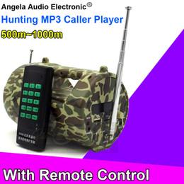 Wholesale M Remote Control Camo Player MP3 Bird Caller Hunting Bird Decoy Speaker Bait Lure Trap Amplifier Loudspeaker