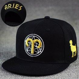 Unisex Baseball Cap Snapback Hat Gold Zodiac 12 Constellation Hip Hop Adjustable
