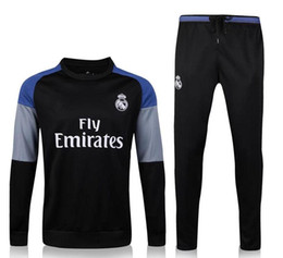 Wholesale 2016 new real madrid soccer training suits Uniforms shirts football tracksuits Survetement long sleeve