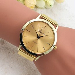 Wholesale Mens Watches Business Casual Allo Belt Watches For Mens Round Watches For Women Beauty Golden Watches Fashion Geneva Watches Small Gifts