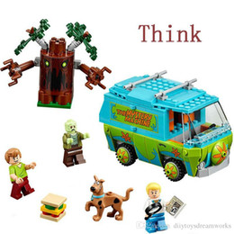 Wholesale Bela Scooby Doo Mystery Machine Bus Minifigures Building Block Minifigure Toys Compatible With legolend P029 Birthday