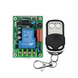 Wholesale RF AC V W A One Transmitter Channel Relays Smart Wireless Remote Control Light Switch Mhz