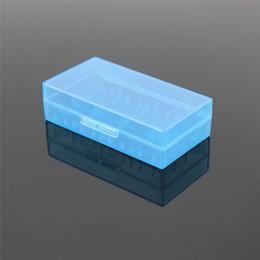 Promotion porter coloré Boîte de transport portative 18650 Boîtier de batterie Boîtier en acrylique Boîtier de sécurité en plastique coloré pour batterie 18650 et batterie 16340 sans DHL 200pcs