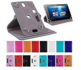 Muti color Universal 7 inch Tablet Case PU Leather Stand Cover Folding Folio Case for 7 inch Tablet PC by DHL