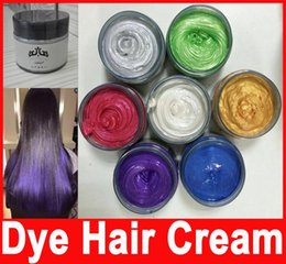 Wholesale Unisex DIY Hair Color Wax Mud Dye Cream Temporary Modeling Red White Blue Colors Available In Stock New Arrival