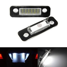 2x Error Free 18 White LED License Number Plate Light Auto Rear Lamps Car Bulbs Sources fit for Ford Mondeo MK2 Fiesta Fusion