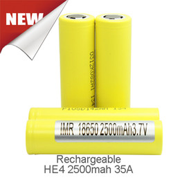 Wholesale Genuine High Drain HE4 mah A Flat top Best Quality Battery Chargers For Box Mod Fedex Free Ship