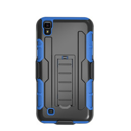 Wholesale For LG X Power ZTE Warp LG Stylo Plus LG K7 K10 Hybrid Kickstand Robot Combo Holster Case with Belt Clip