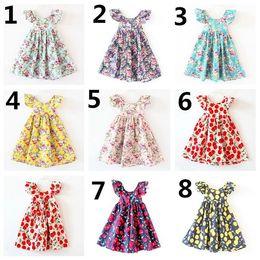 Wholesale DHL Australian Style Summer Style Kids Clothing Flower Girls Sleeveless Dress Party Dressy Children Dresses Girls Kids Wear K7133