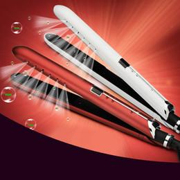 Compra Online Salones para alisar el cabello-Wet To Dry Hair Straightener Profesional Styler Enderezadora Hierros De Hierro De Pelo De Cerámica Curler 100C-220C Salon Home Flat Iron