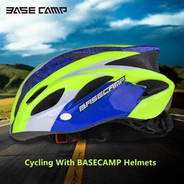 Wholesale 2016 BASECAMP MTB Cycling Helmet Giant Ultralight Road Bicycle Bike Helmet Sports Cap Hat with Removable Visor BC Upgraded