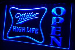 LS439-g Miller High Life OPEN Bar Neon Light Sign