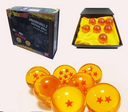 Animation dragonBall 4cm 7 stars crystal ball set of 7 pcs in box dragon ball Z complete hot toys hasbro toy anime Manga