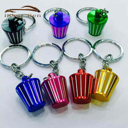 Wholesale HB Ace Speed New Aluminum KN Cold Air Intake Filter Key Chain Lovely Keychain Key Ring Colors