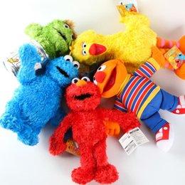Wholesale NEW Styles Sesame Street Elmo Cookie Grover Zoe Ernie Big Bird Stuffed Animal Plush Toy Cartoon Soft Plush Dolls Children Gift