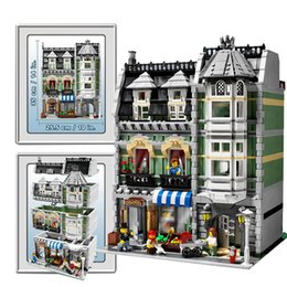 Wholesale 2462pcs New lepin Creator series The Green Grocer House model building blocks Classic Minifigures toys Compatible original legoelieds