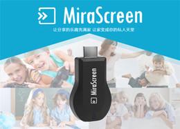 Wholesale MiraScreen OTA Stick de TV Dongle mejor que EZCAST EasyCast Wi Fi pantalla del receptor DLNA Airplay Miracast Airmirroring Chromecast DHL V1627