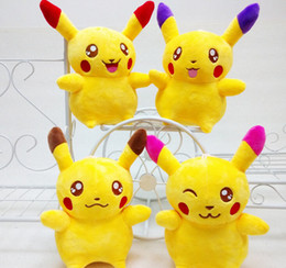 Poke Plush Toys Pikachu Plush Cartoon Movie Stuffed Animals Toy Lovely Dolls Figures Poke Pikachu Plush 20 cm LJJK507