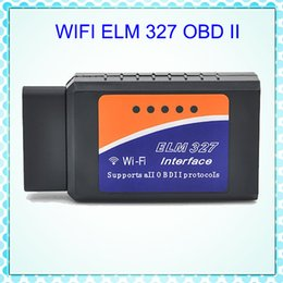 Wholesale Best Quality WiFi ELM OBDII Car Diagnostic Tool OBD2 Code Reader Scanner For Android PC ELM WiFi