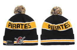 Wholesale Pittsburgh Pirates Baseball Beanies Team Hat Winter Caps Popular Beanie Caps Skull Caps Best Quality Sports Caps Allow Mix Order
