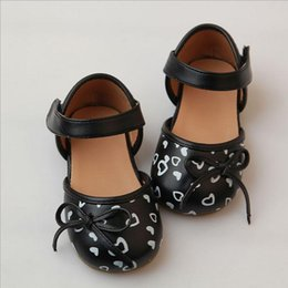 Kids Shoes Girls Shoes Bow Princess Shoes 2016 New Autumn Fashion Cute Print Dress Shoes MK-739