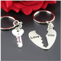 I love you key chain ring keychain | Valentine couple Keyfob presents two styles of heart shape