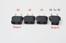 black USA US To EU Plug Adapter Travel Charger adapter Converter Universal AC Power Electrical Plug Socket