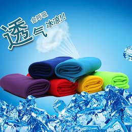 Wholesale Cold Towel x32cm cooling Towel Exercise Sweat Summer Sports Ice Cool Towel PVA Hypothermia Cooling Towel mix Single layer LC342