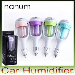 Wholesale Nanum Car Plug Air Humidifier Purifier Vehicular essential oil ultrasonic humidifier Aroma mist car fragrance Diffuser V power supply