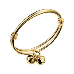 Wholesale New arrival Baby bracelets Copper plated gold accessories children bangle adjustable open bangles jewelry OKH487