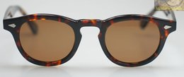 Retro Vintage Johnny Depp sunglasses tortoise with Brown Polarized lens frames