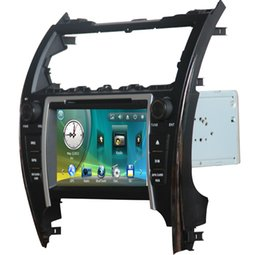 Wholesale 8 inch Two DIN Car DVD Player with GPS Audio Video for Toyota Camry American version with SWC BT USB DVD player analog TV free map