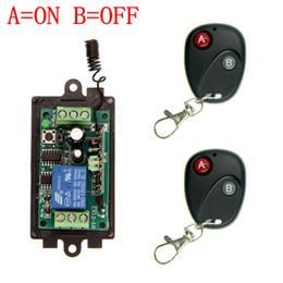 Descuento control remoto 315 Al por mayor-DC 9V 12V 24V 1 CH 1 canal de interruptor del sistema de control remoto inalámbrico RF, 315/433 MHz 2X transmisor + receptor, por pulsos (A = B = EN OFF)