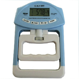 Ejercitador de agarre en Línea-pinza conteo electrónico de 90kg de gimnasio empuñaduras digital azul color gris portátil de casa Escuela ejercitador dinamómetro de la formación