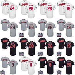 Wholesale 2016 World Series men Cleveland Indians Andrew Miller Mike Napoli Corey Kluber Bob Feller Chisenhall baseball jersey Stitched