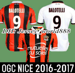 Wholesale top Thai quality New OGC Nice Soccer Jersey BALOTELLI Maillot de Foot Payet Ocampos Lass Home Camisa football Shirt