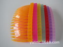 Wholesale 14 teeth Beautiful diy Imitation hair comb insert comb hair maker bride hair accessory Handmade DIY hair ornaments hair tools