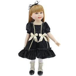 Wholesale 2016 Hobbies Fashion Doll Toys inch Super Soft American Girls Doll CM Full Silicone Lifelike Reborn Toddler DOlls Long Hair