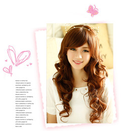 The new 2016 cos the European and American reality model wig high temperature wire long curly hair wig