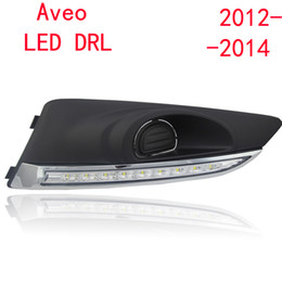 Wholesale 2PCs set super bright auto LED DRL Daytime Running Lights for Chevrolet Aveo with fog lamp