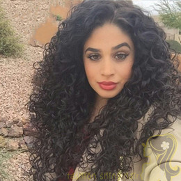 Natural Curly Brazilian Lace Front Wig Fashionable Human Hair Wigs Curly Glueless Full Lace Wig With Baby Hair 130% Density