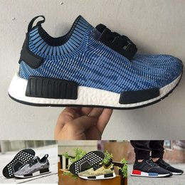 Wholesale Originals NMD Runner Primeknit Sports Outdoors boost,Cheap discount mens Athletic trainers womens Running Shoes sneakers blue