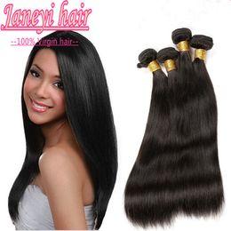 Wholesale Jane yi Hair Products Peruvian human Hair Straight A Unprocessed Peruvian Straight Hair Human Hair Weave